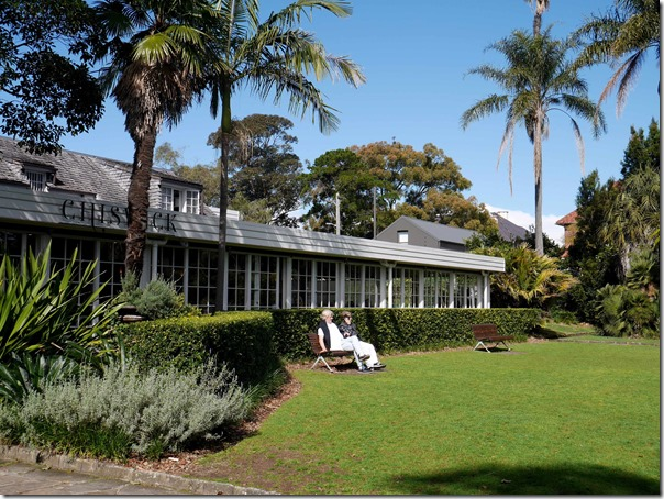 Sprawling lawn at Chiswick, Woollahra