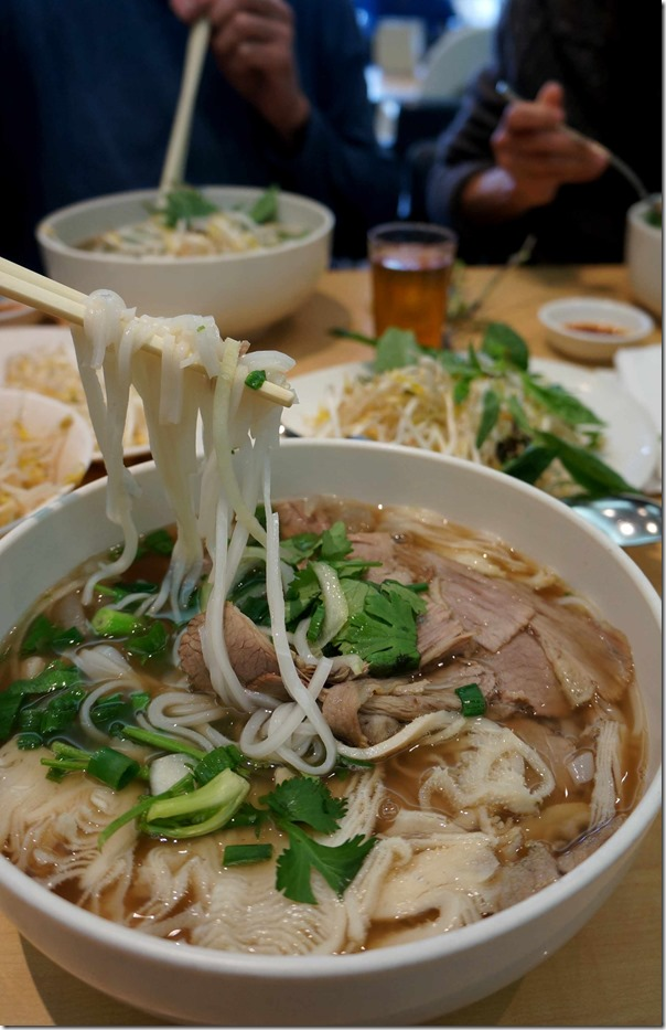 Pho with beef tripe and brisket, An Restaurant $14