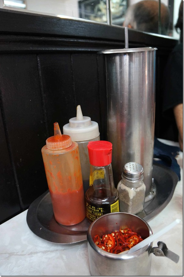 Condiments and chopsticks station, Pho Tau Bay, Cabramatta