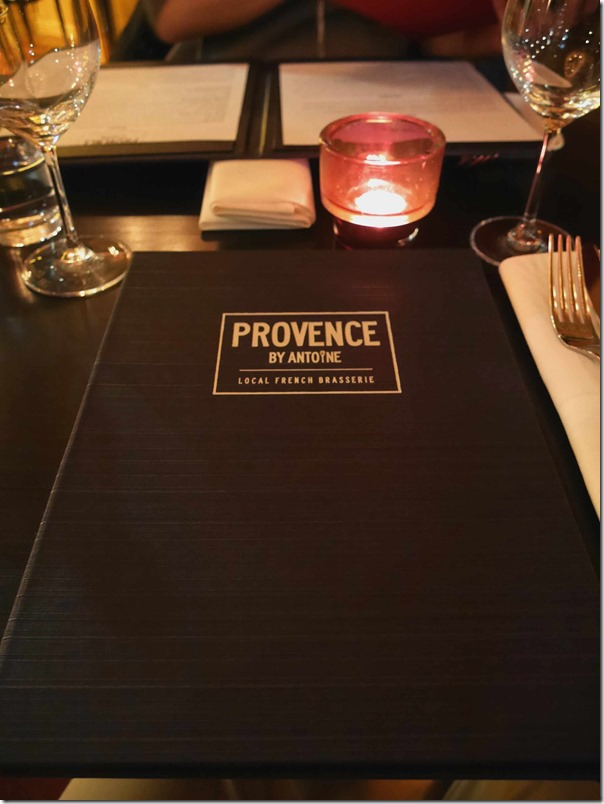 Menu & table setting, PROVENCE by Antoine, Concord