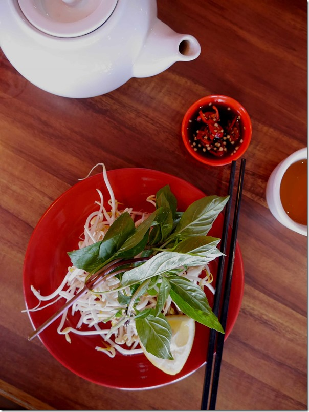 Fresh beansprouts, mint and lemon at PHD, Marrickville
