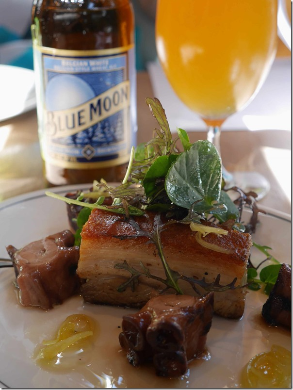 Roast pork belly with slow cooked Mediterranean octopus & pickled lemon $28