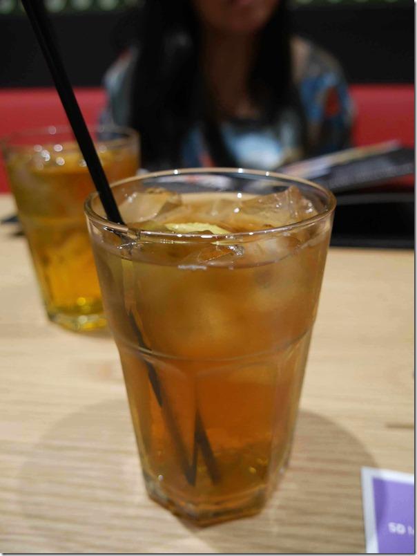 Ice lemon tea $4