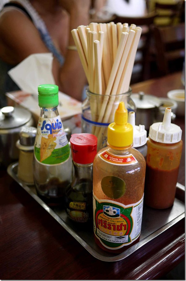 Condiments and chopsticks station, Old Thanh Huong, Marrickville