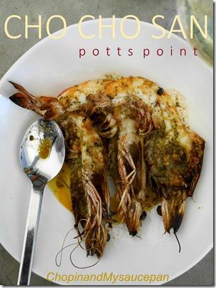 King prawns with kombu butter at Cho Cho San