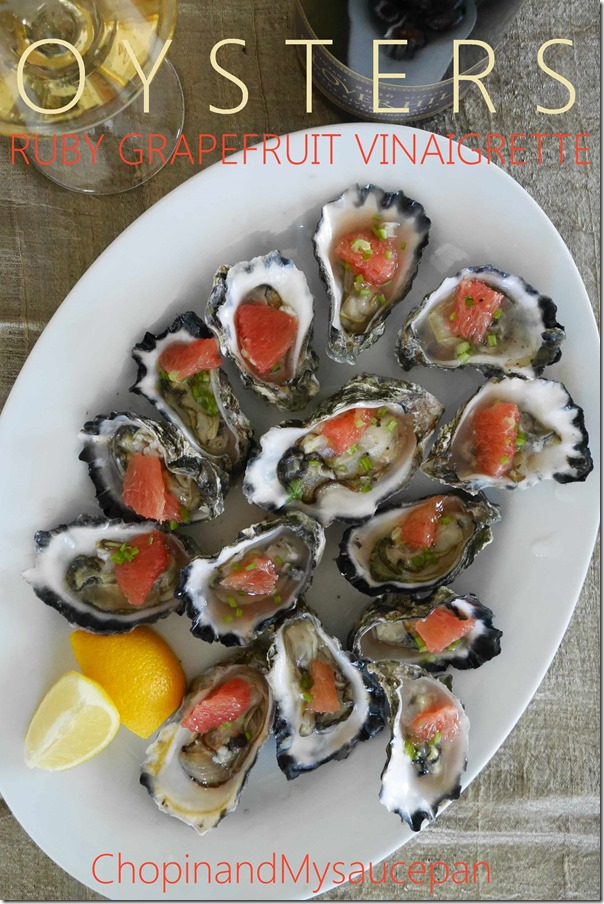 Oysters Ruby Grapefruit Vinaigrette