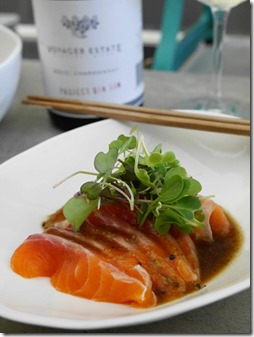 Ocean trout sashimi at Cho Cho San