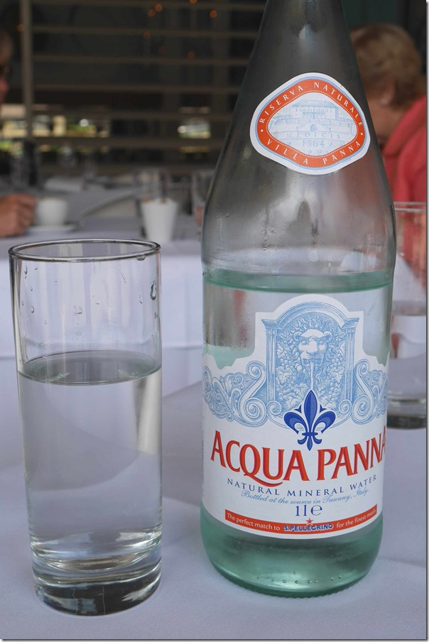 Sparkling Acqua Panna mineral water $9.5