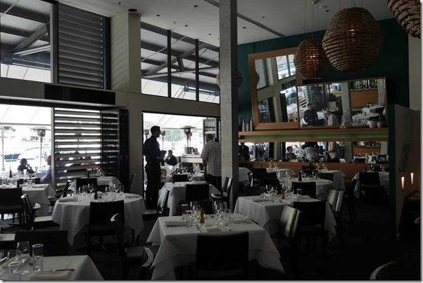 Dining room at Manta, Woolloomooloo