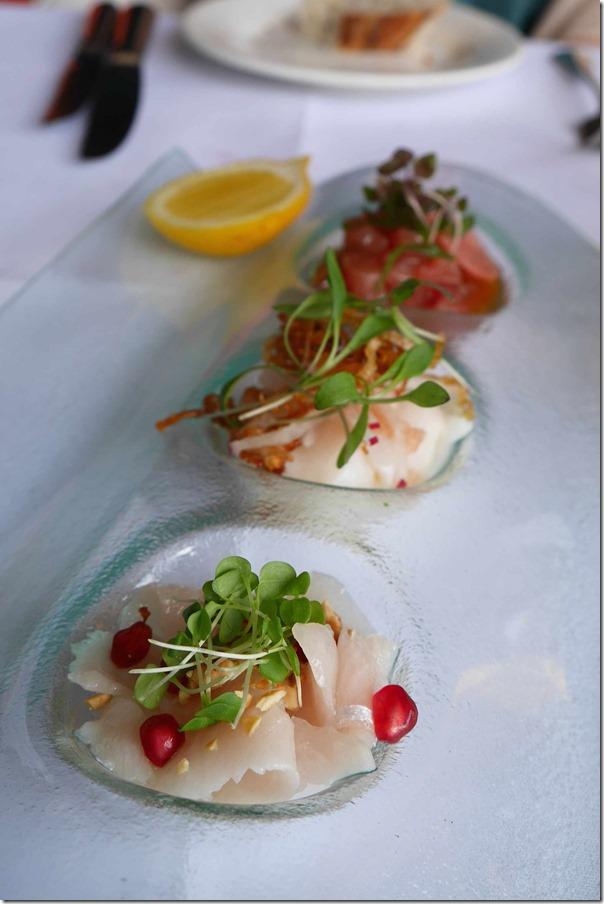 Raw seafood tasting plate $24