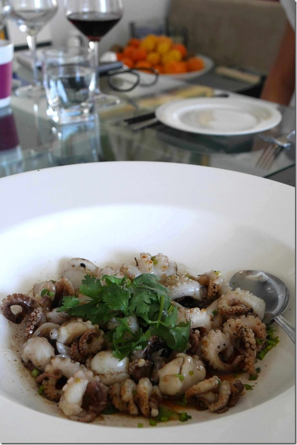Baby octopus with lime ponzu