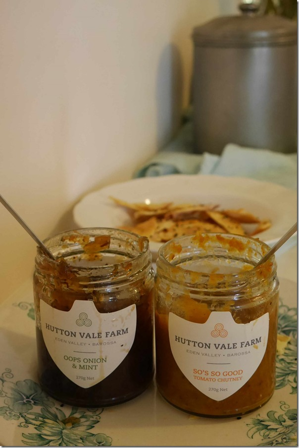 Hutton Vale Farm's Oops Onion & Mint and So's So Good Tomato Chutney