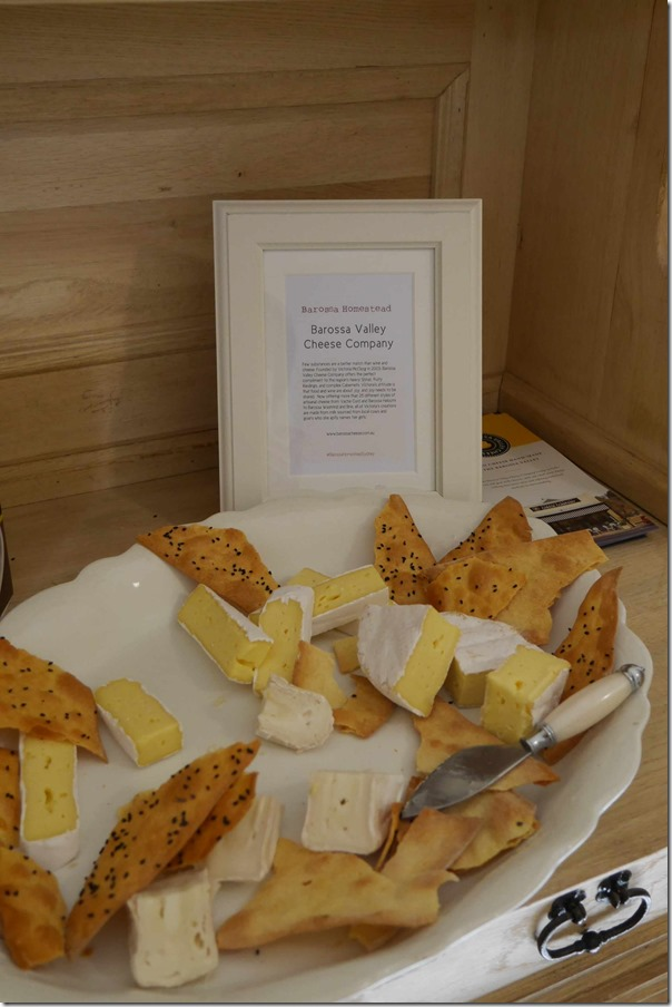A selection of cheeses from Barossa Valley Cheese Company with Barb Buggy's Barossa Bark