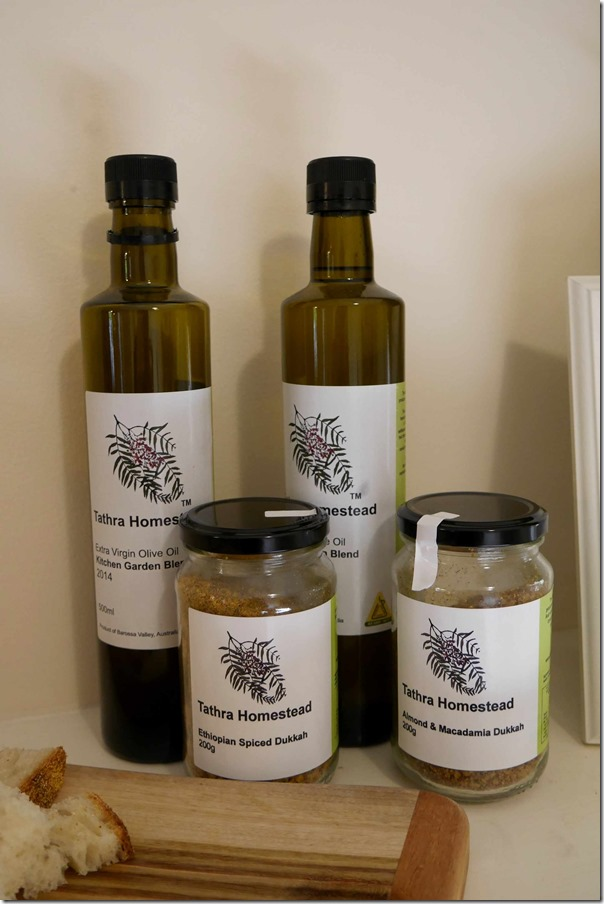 Extra Virgin Olive Oil & dukkah from Tathra Homestead