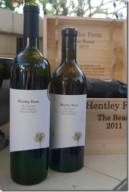 A selection of reds from Hentley Farm Wines