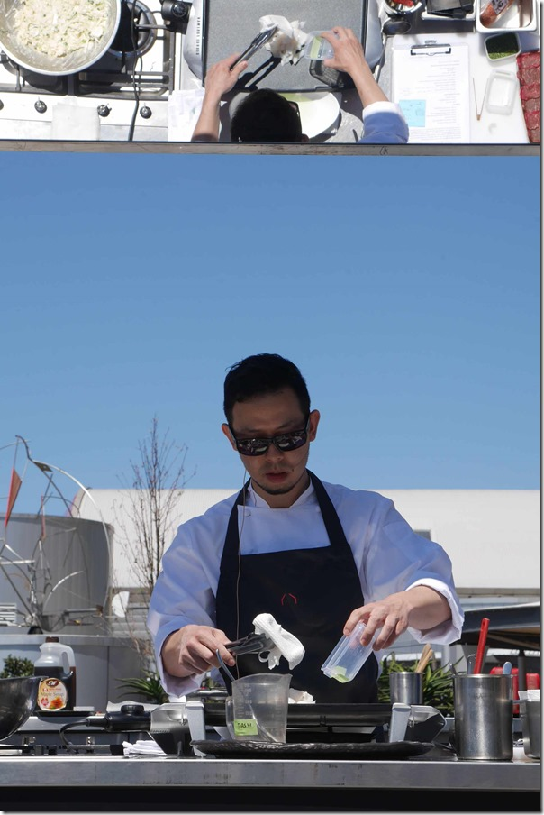 Sokyo's executive chef Chase Kojima in action