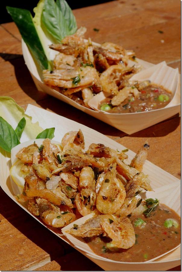 Benjamin Cooper's crispy school prawns with nahm prik