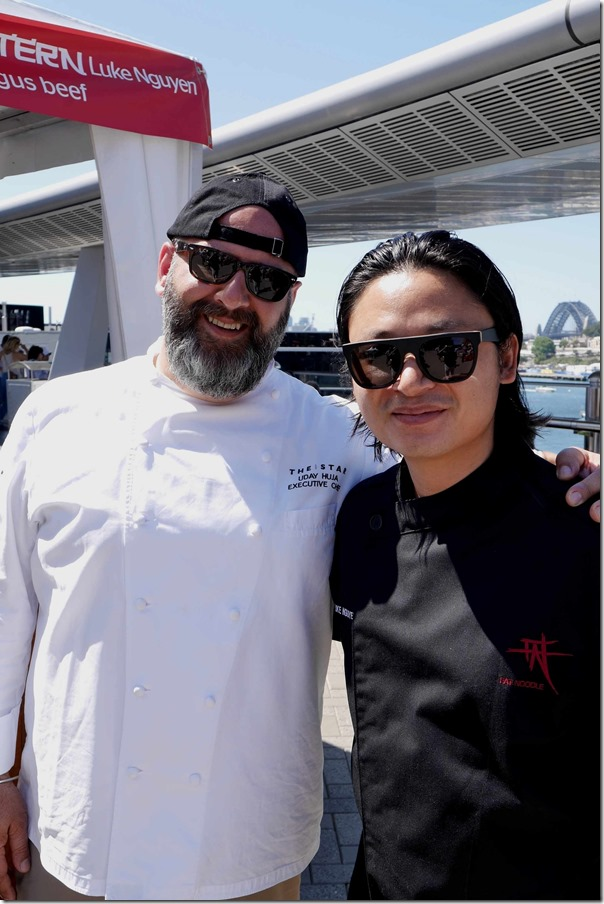 Executive Chef at The Star Uday Huja with Fat Noodle's Luke Nguyen