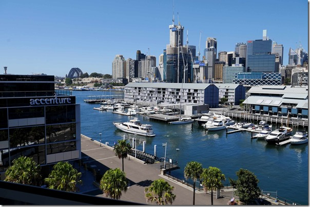 View of Pyrmont Bay from Sky Terrace at The Star, Pyrmont