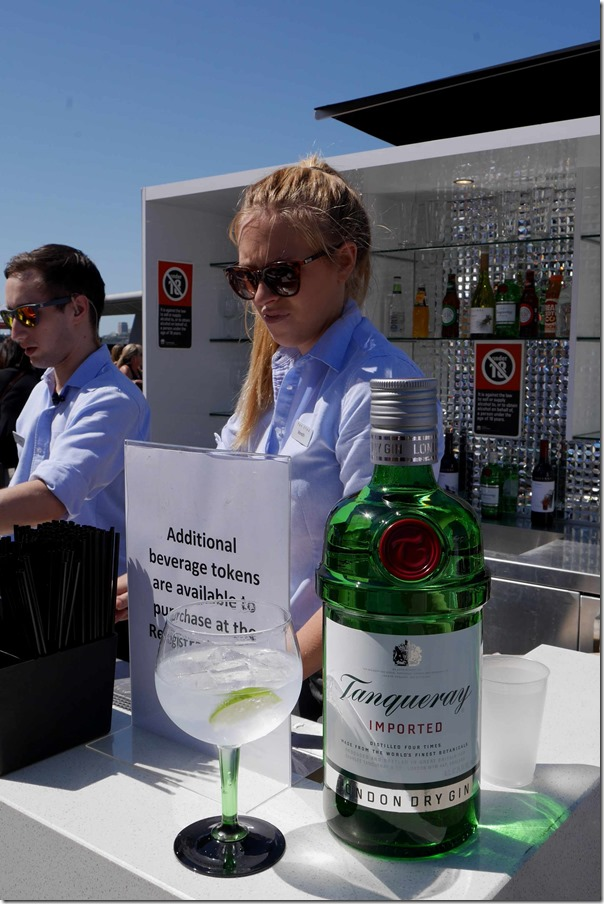 Tanqueray Gin & Tonic at The Sky Terrace, The Star Pyrmont