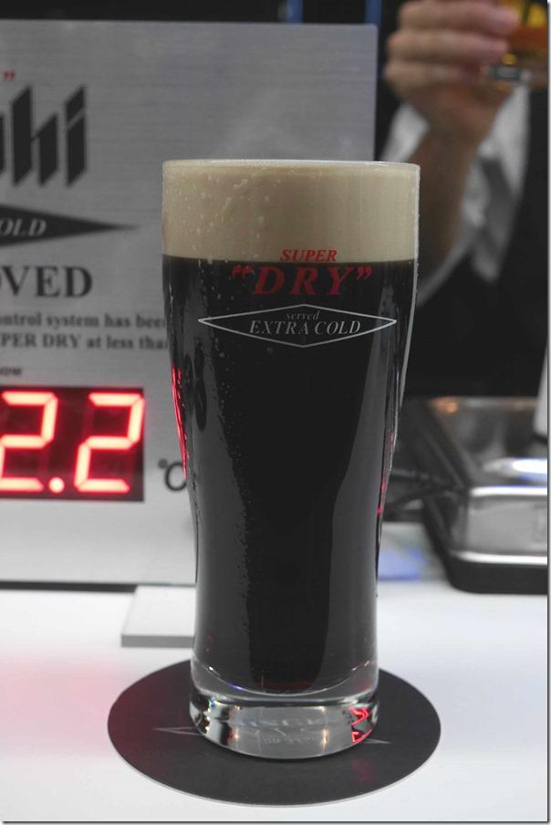 Asahi Super Dry Black 5.5% alcohol, $9