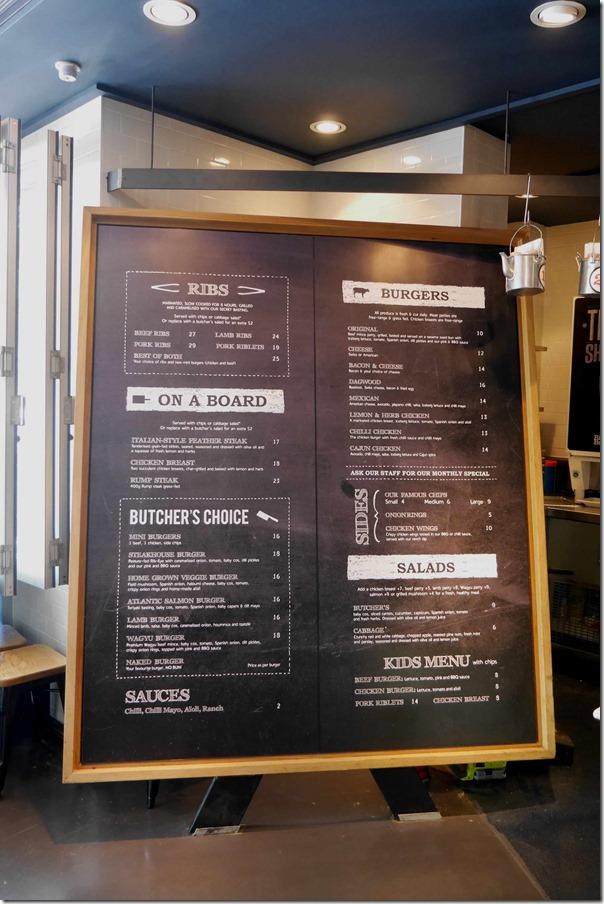 Blackboard menu ~ Ribs & Burgers, Neutral Bay