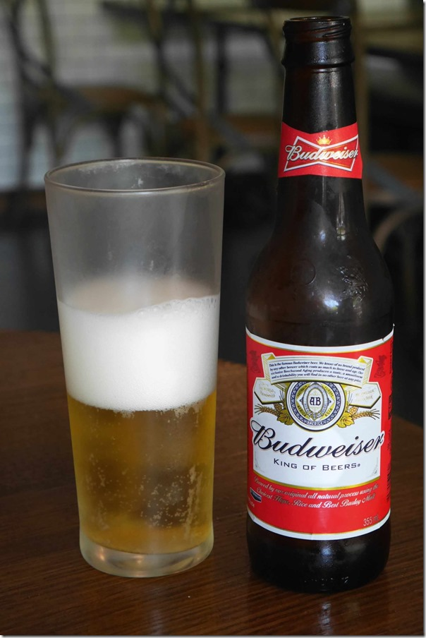 Budweiser beer $8
