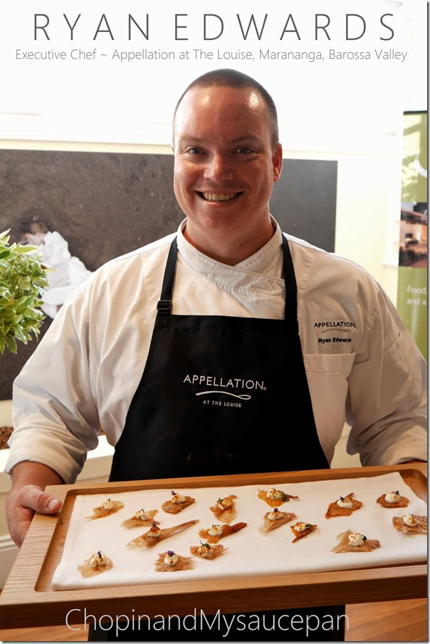 Ryan Edwards ~ Executive Chef, Appellation at The Louise, Barossa Valley