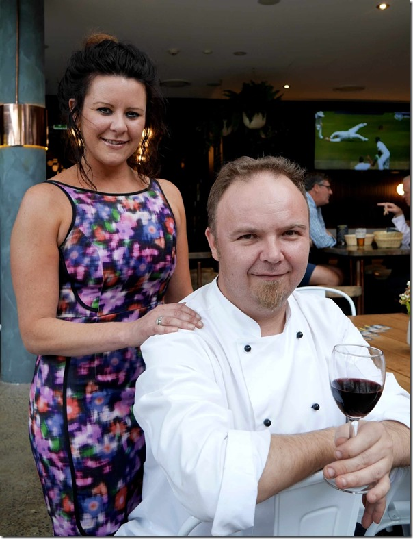 Restaurant Manager Carly Sunnerson with Executive Chef Matt Graham