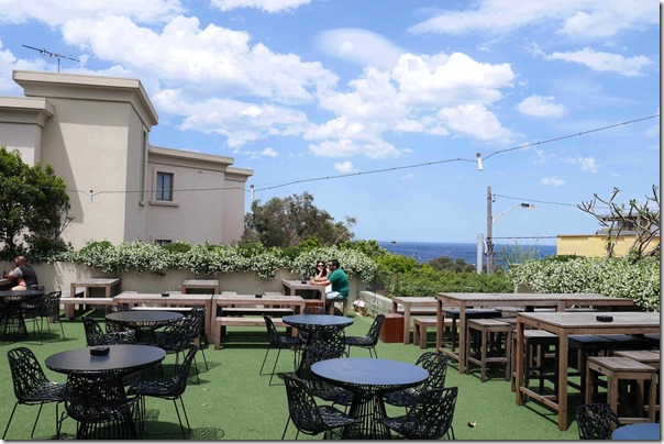 Outdoor terrace and beer garden at The Clovelly Hotel