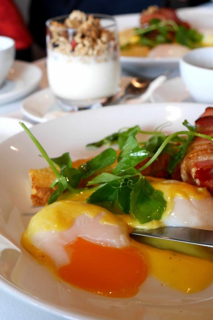 Yellow & orange ~ 63 C eggs with hollandaise sauce