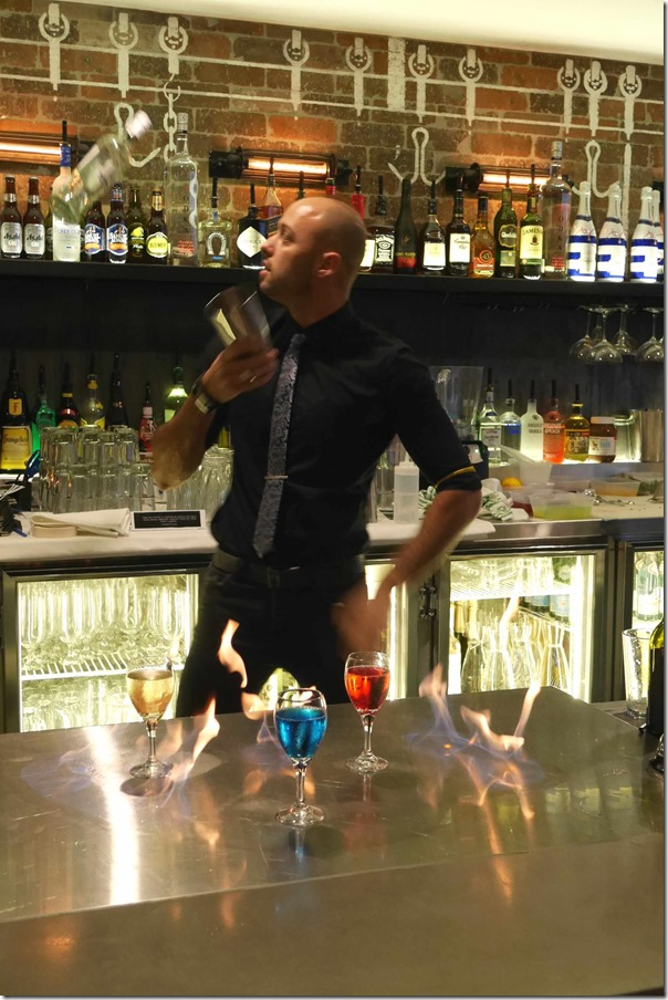 Mixologist Mirko Cacciola showing his skills