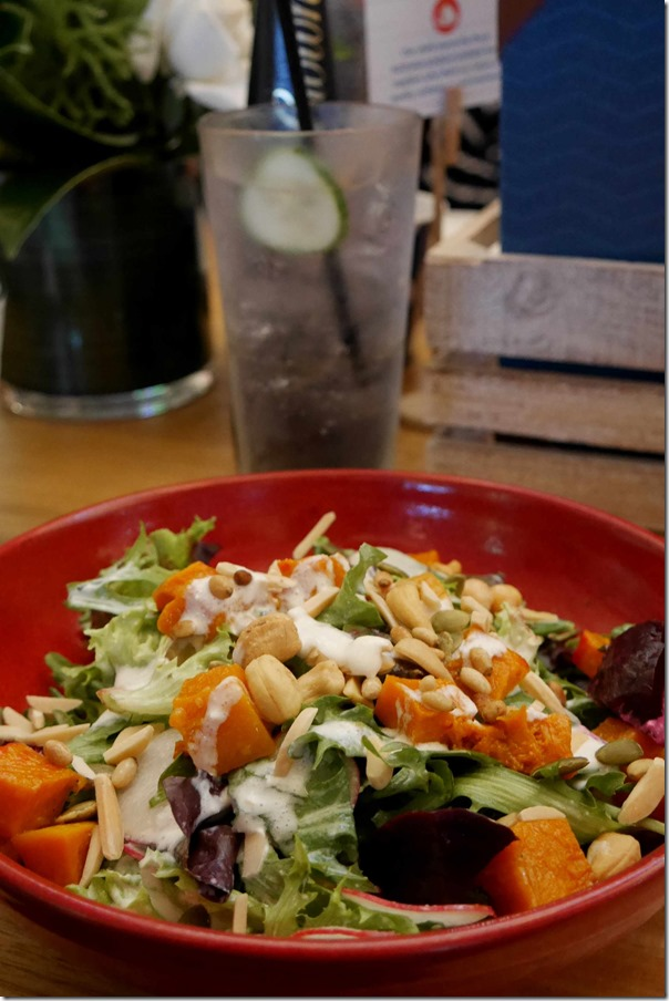 Manuka honey infused roast pumpkin salad $15