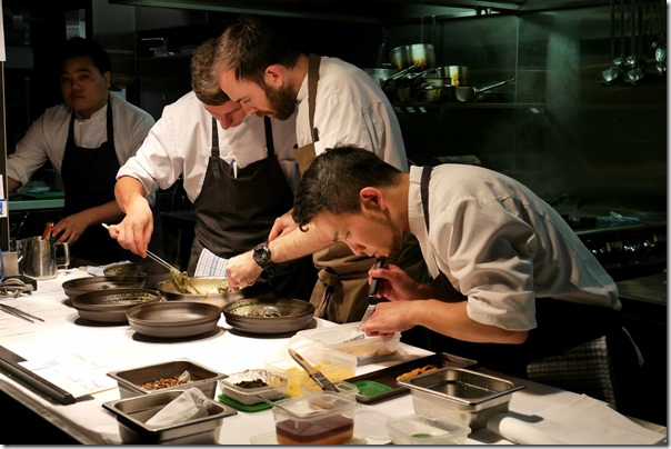 Executive chef & co-owner Federico Zanellato (second from right) & his team in the kitchen