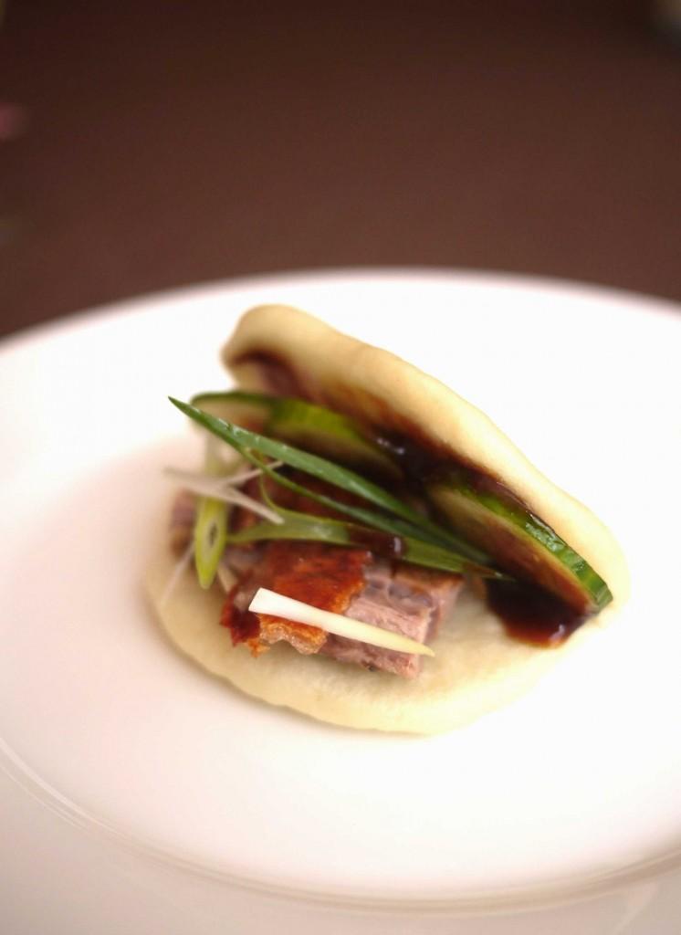 Our homemade pork belly bun