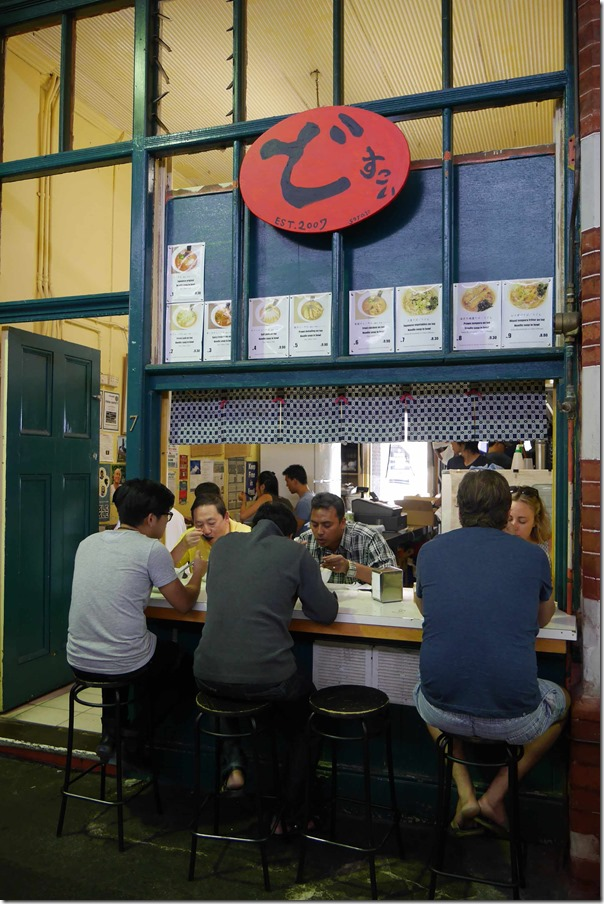 Dosukoi ramen, Fremantle Markets
