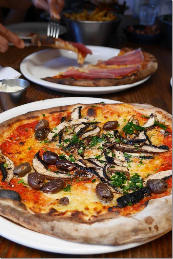 Mushroom pizza $19