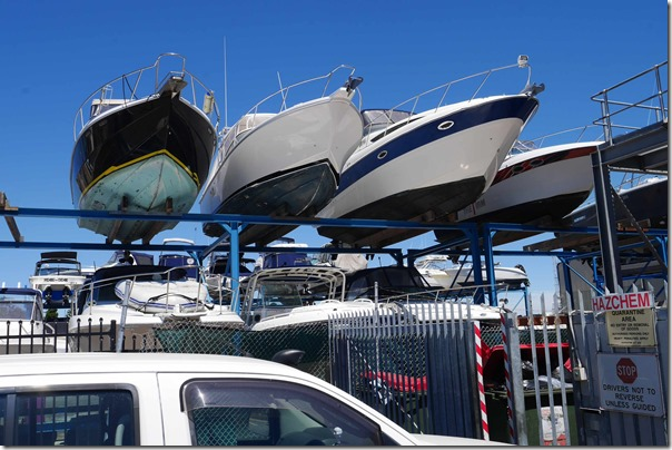 Boats at mooring site, Fremantle Western Australia