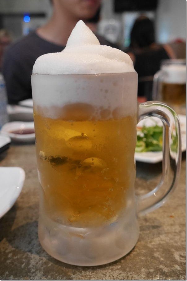 Frozen beer $8