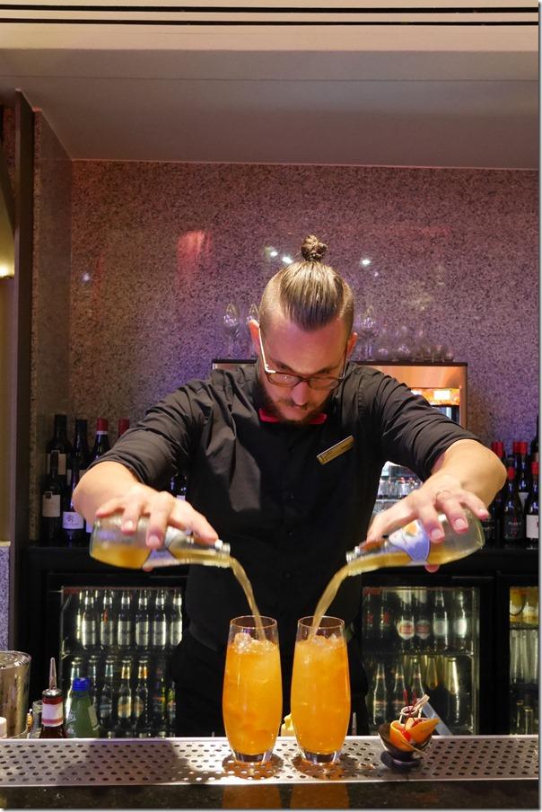 Bar tender preparing two Chasing Kiyomi cocktails at Kiyomi, Gold Coast