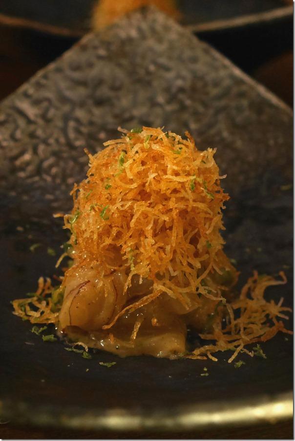 Hiramasa kingfish ceviche, miso and crispy potato $19