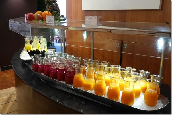 Breakfast juice counter