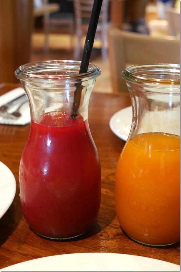 Beetroot, watermelon, green apple & orange juice