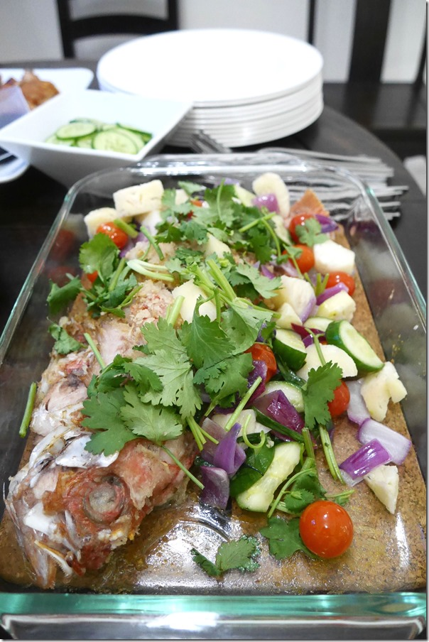 Chinese steamed snapper