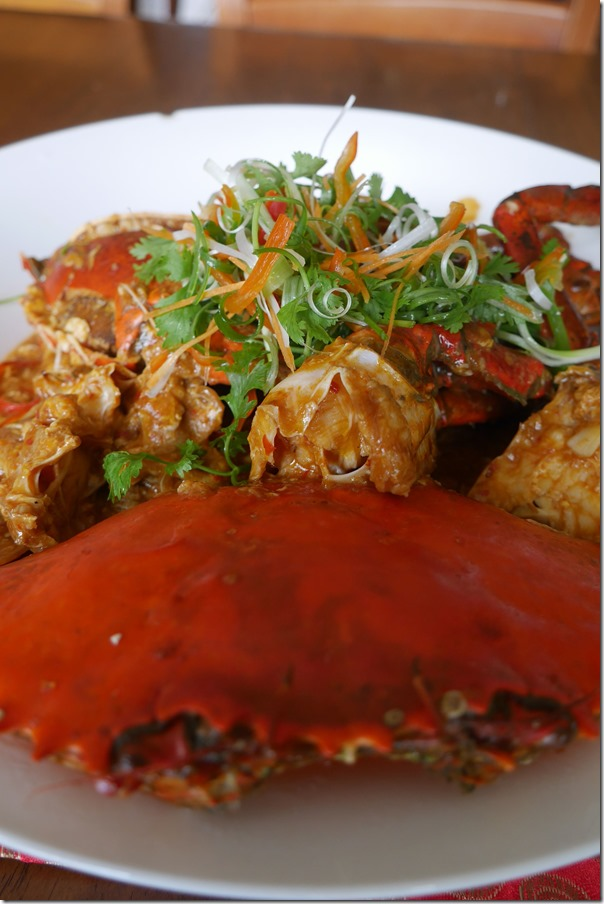 Singapore style chilli mud crabs