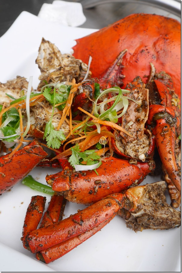 Black pepper mud crabs