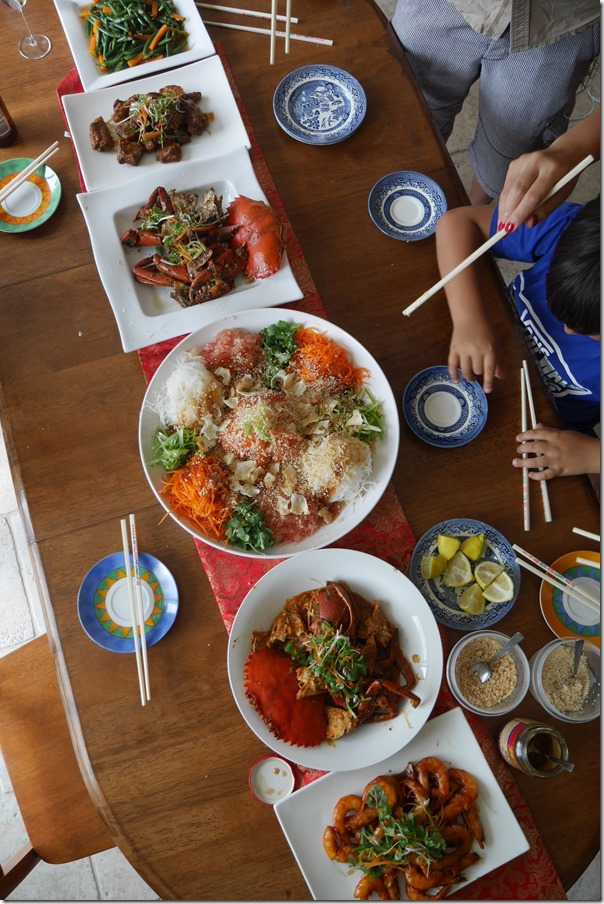 John & Jo's Chinese New Year feast 2015