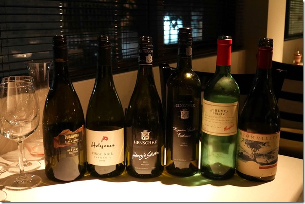 Wines of the evening, Cipri Italian, Paddington