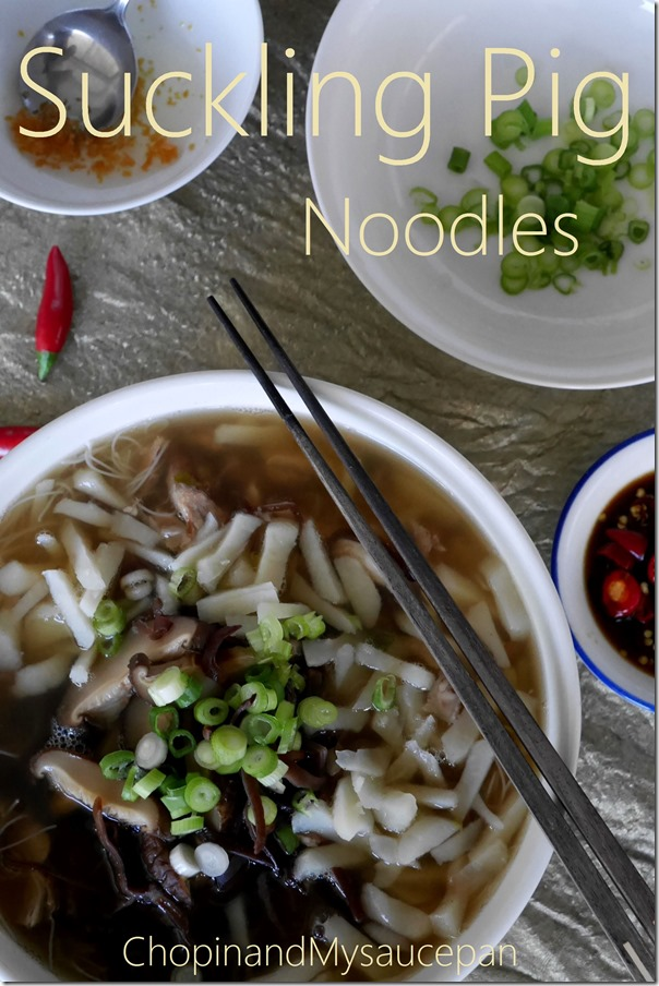 Suckling pig noodles