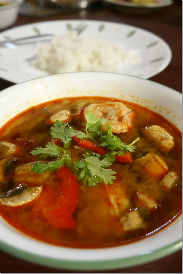 Thai style tom yum soup